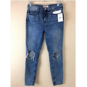 NEW Free People Busted Knee Skinny Jeans Denim